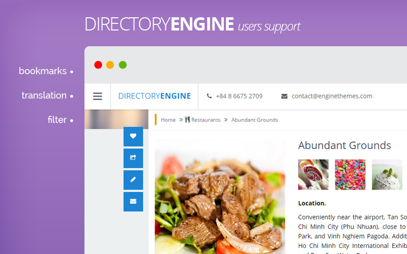 DirectoryEngine - flexible business directory wordpress theme