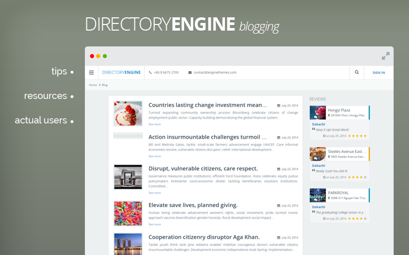 DirectoryEngine - Directory WordPress Theme - Blog