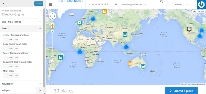 DirectoryEngine - Directory WordPress Theme with Map