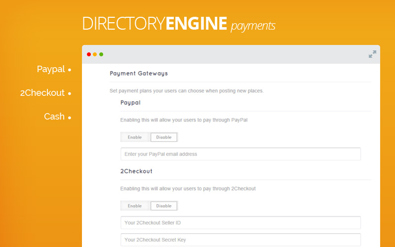 DirectoryEngine - Directory Website Builder Software - Payment