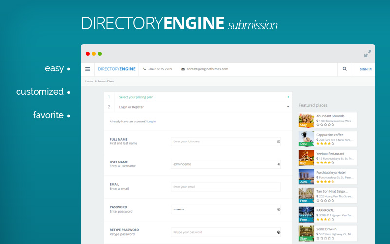 DirectoryEngine Multipurpose Directory WordPress Theme Responsive
