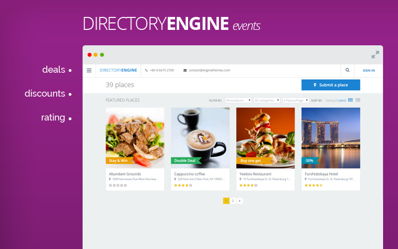 DirectoryEngine - Create Event and Rating - Directory Theme