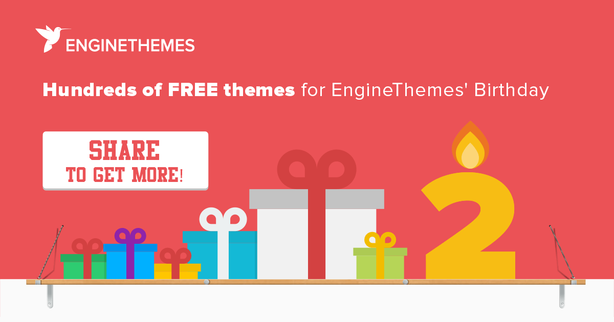 Get hundreds of free themes on EngineThemes' 2nd birthday giveaway event