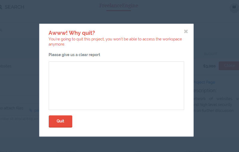 quit - freelanceengine