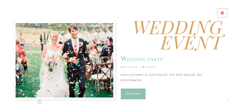 WE button - WeddingEngine