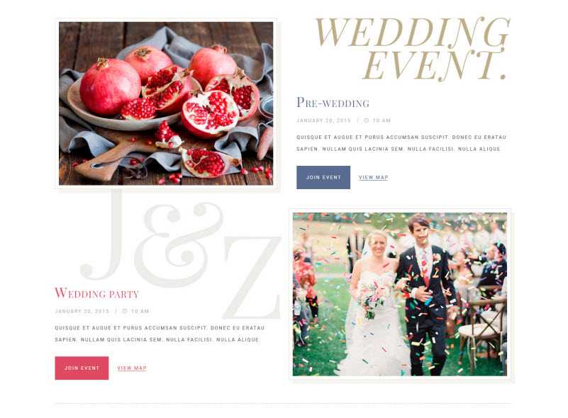 WE events - WeddingEngine
