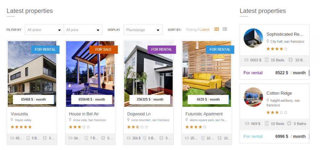 New Real Estate Listing Wordpress Theme