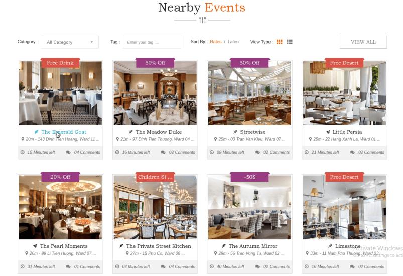 blog events - DiningEngine