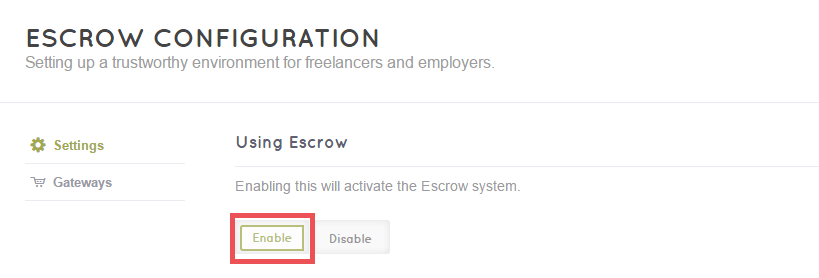 FreelanceEngine Credit Extension - Enable Escrow in back-end
