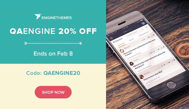 QAEngine 20% promotion
