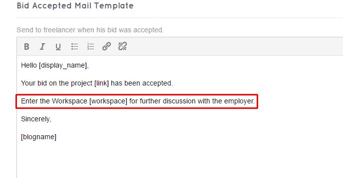 freelanceengine 1.7.5 - insert link workspace in mail template