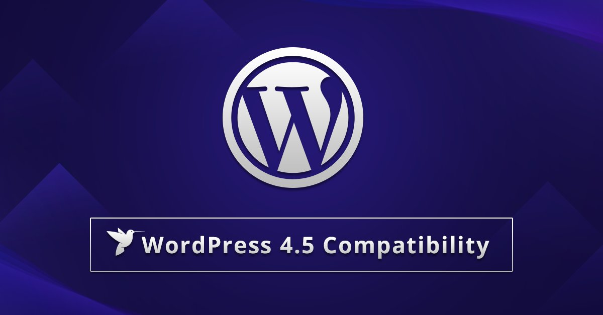 wordpress 4.5 compatibility