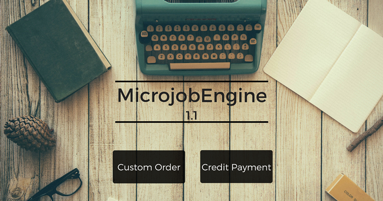 microjobengine 1.1 - custom order and credit payment