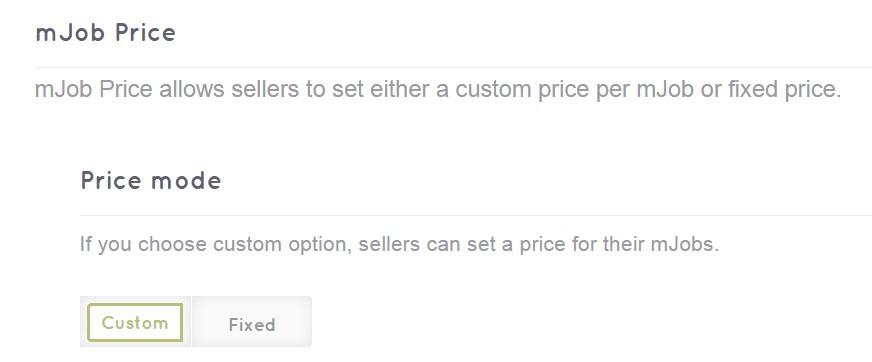 MjE v1.1.1 - mJob Price