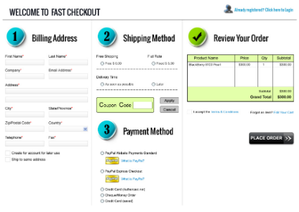 improve conversion rates - easy checkout