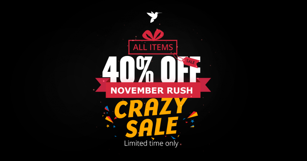 enginetheme november rush - black friday promotion