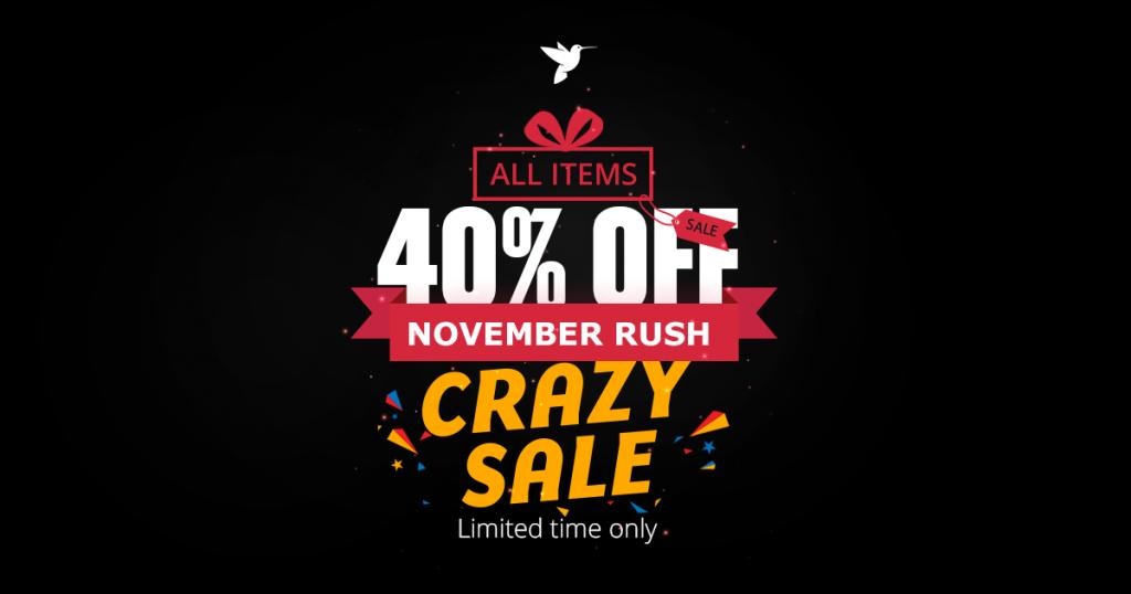 enginetheme november rush - black friday promotion