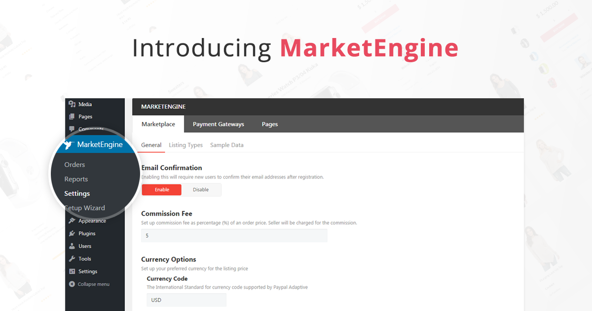 MarketEngine - Free WordPress Marketplace Plugin