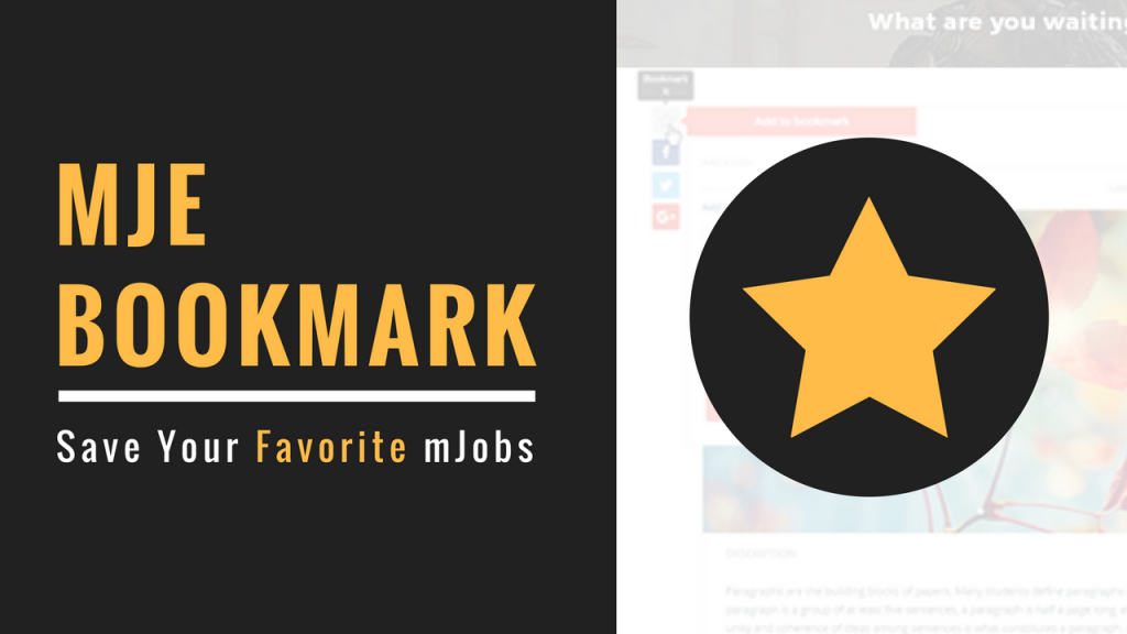 MjE Bookmark Extension - A Quick And Easy Tool To Save Your Favorite mJobs
