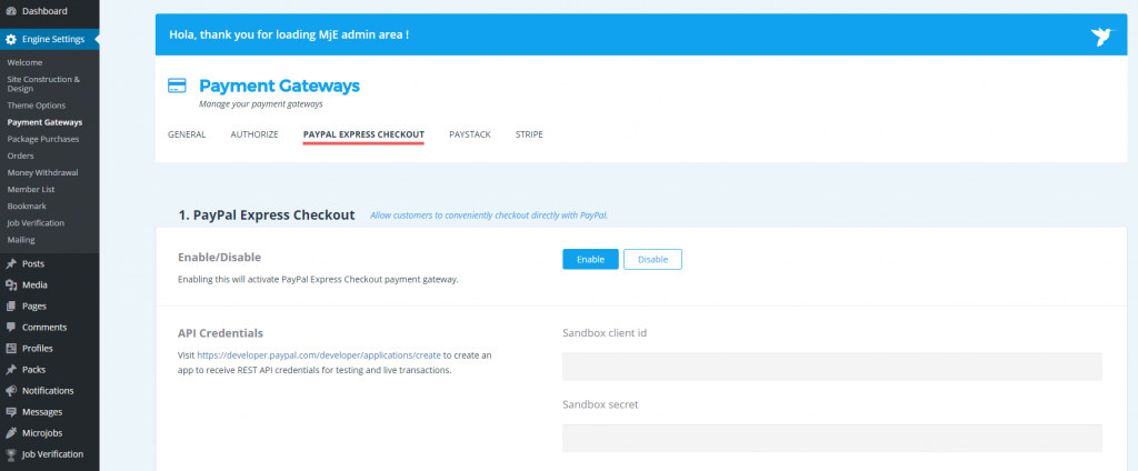 how to enable dprp in paypal live account